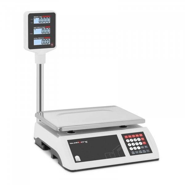 B-termék Ellenőrző mérleg - 15 kg / 2 g - LCD kijelző