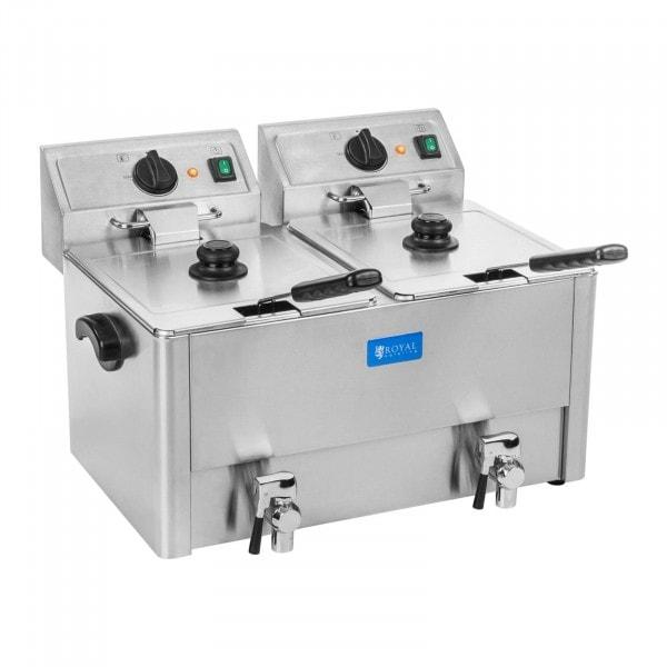 Elektromos olajsütő - 2 x 13 liter - EGO termosztát