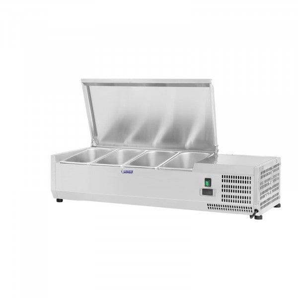 Hűtővitrin - 120 x 39 cm - 4 darab 1/3 GN edény