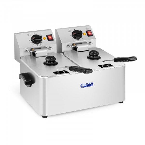 Elektromos olajsütő - 2 x 8 liter - EGO termosztát