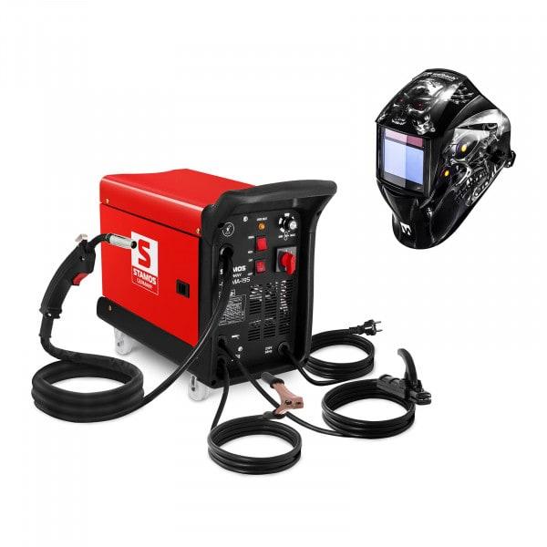Hegesztő készlet Multifunkcionális hegesztő 195 A - 230 V - hordozható + Hegesztő sisak - Metalator - EXPERT SERIES