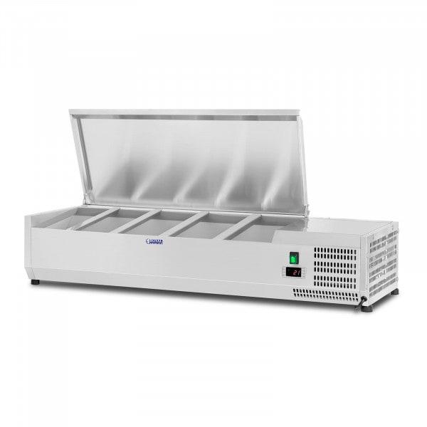 B-termék Hűtővitrin - 120 x 33 cm - 5 darab 1/4 GN edény