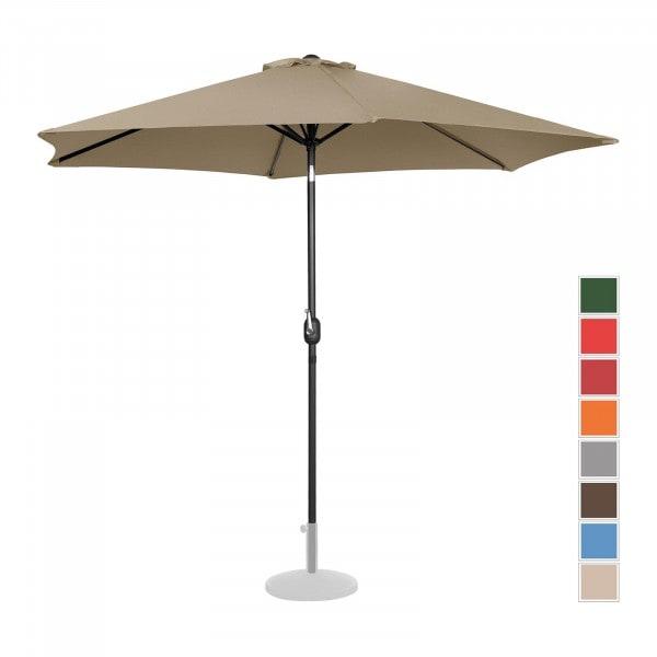 B-termék Nagy napernyő - tópszínű - hatszögletű - Ø 300 cm - dönthető