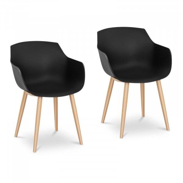 B-termék Szék - 2 db-os készlet - max. 150 kg - ülőfelület 43 x 40 cm - fekete