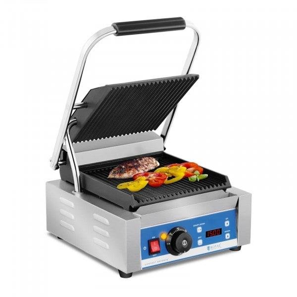 B-termék Kontakt grill - bordázott - időzítő - 1800 W